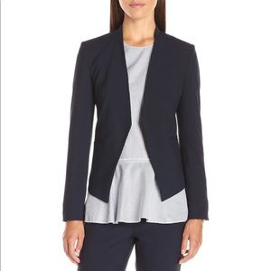 Theory dark navy open front blazer jacket size 2